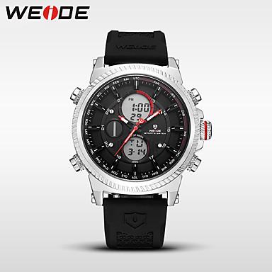 WEIDE Heren Sporthorloge / Digitaal horloge Japans Alarm / Kalender / Waterbestendig Silicone Band Luxe / Informeel / Modieus Zwart / Dubbele tijdzones