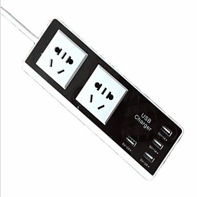 USB-Ladegerät 6 Ports Schreibtisch Ladestation Mit USB-Anschluss USA GB EU Ladeadapter