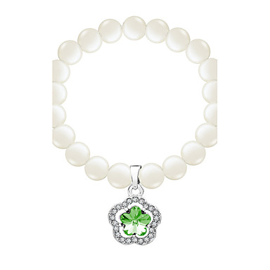للمرأة أساور السلسلة والوصلة أساور حبلا مجوهرات قديم الطبيعة مصنوع يدوي موضة اللؤلؤ كريستال سبيكة Oval Shape غير منتظم مجوهرات من أجل