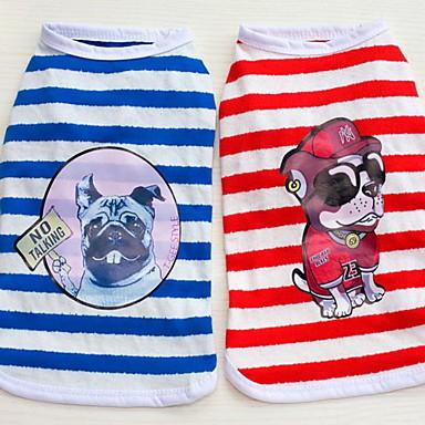 Overige Jumpsuits Hondenkleding Schattig Casual/Dagelijks Band Rood Blauw Kostuum Voor huisdieren