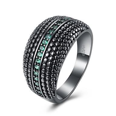 Damen Ring Synthetischer Opal Kubikzirkonia Personalisiert Geometrisch Einzigartiges Design Klassisch Retro Böhmische Grundlegend