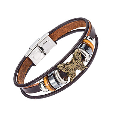 للرجال أساور من الجلد مجوهرات الطبيعة موضة جلد سبيكة مجوهرات من أجل مناسبة خاصة