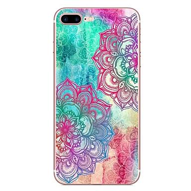 Voor apple iphone 7 7 plus 6s 6 plus case cover kleur diagonale bloem patroon hd geschilderde tpu materiaal zachte case telefoon hoesje