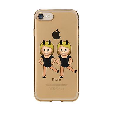 Für Hüllen Cover Transparent Muster Rückseitenabdeckung Hülle Cartoon Design Weich TPU für AppleiPhone 7 plus iPhone 7 iPhone 6s Plus