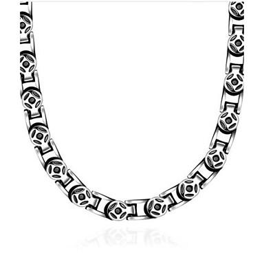 Bărbați Coliere Choker - Oțel titan Vintage Argintiu Coliere Pentru Cadou, Zilnic, Casual