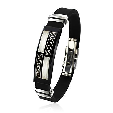 Heren ID-armband Vriendschap Initial Jewelry Movie Jewelry Hip-hop Modieus Rock Siliconen Titanium Staal Rond Cirkelvorm Sieraden