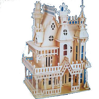 3D - Puzzle Holzpuzzle Holzmodell Modellbausätze Rechteckig Burg Berühmte Gebäude Architektur 3D Holz Naturholz Alle Altersgruppen