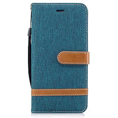 Hülle Für Huawei Kreditkartenfächer Geldbeutel mit Halterung Flipbare Hülle Ganzkörper-Gehäuse Volltonfarbe Hart PU-Leder für P10 Plus