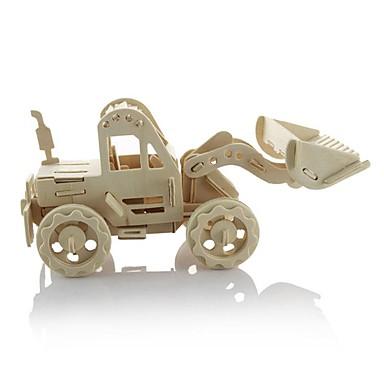 قطع تركيب3D تركيب خشبي النماذج الخشبية سيارة آلات الحفر 3D اصنع بنفسك 3D خشبي خشب كلاسيكي Dozer للأطفال هدية