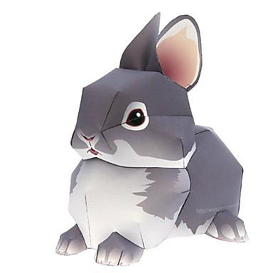 3D-puzzels Bouwplaat Papierkunst Modelbouwsets Rabbit Dieren Simulatie DHZ Hard Kaart Paper Klassiek Kinderen Unisex Geschenk