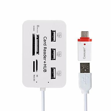 Cwxuan USB 2.0 to USB 2.0 USB Hub 7 Havne Med Kortlæser (e) / OTG