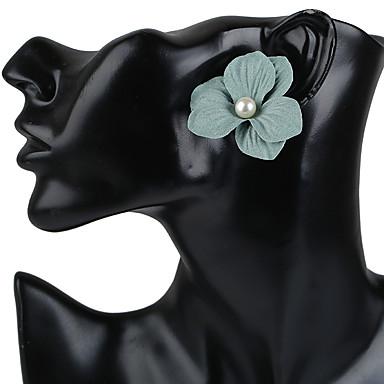 Damen Ohrstecker Kreolen Ohrring Blumen Stil Blumen Modisch Böhmen-Art Handgemacht Kunststoff Künstliche Perle Harz Blumenform Schmuck Für