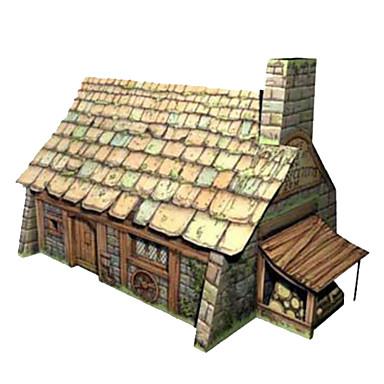 Puzzle 3D Pătrat Clădire celebru Casă Arhitectură 3D Reparații Hârtie Rigidă pentru Felicitări toate vârstele