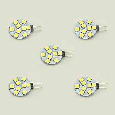 5 stuks 1.5 W 148 lm G4 2-pins LED-lampen T 9 LED-kralen SMD 5050 Warm wit / Wit 12 V