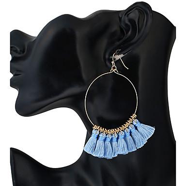 Damen Ohrstecker Tropfen-Ohrringe Kreolen Anhänger Stil Quaste Böhmische Simple Style Kunststoff Aleación Geometrische Form Schmuck