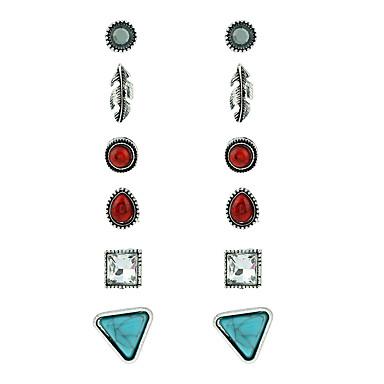 Pentru femei Cercei Rotunzi  Γεωμετρικά Euramerican Multi-moduri Wear Modă Aliaj Metalic Crom Aliaj Geometric Shape Bijuterii Petrecere