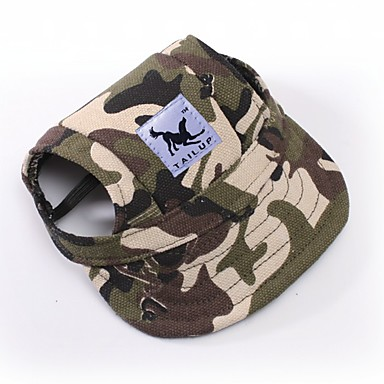cheap Dog Clothing & Accessories-Cat Dog Bandanas & Hats Dog Clothes Camo / Camouflage White / Blue White / Pink Leopard Terylene Costume For Spring &  Fall Summer Men's Women's Sports