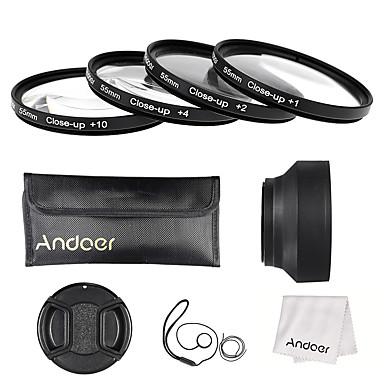Andoer 55mm close-up Makro-Objektiv-Filter-Set (1 2 4 10) mit Objektiv Zubehör