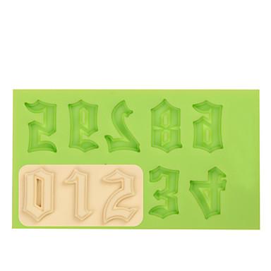 silicon numărul mucegai mucegai fondant pentru ciocolată fimo argilă de culoare aleatoriu
