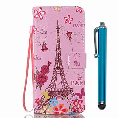 hoesje Voor Samsung Galaxy S8 Plus S8 Kaarthouder Portemonnee met standaard Flip Patroon Volledig hoesje Eiffeltoren Hard PU-nahka voor
