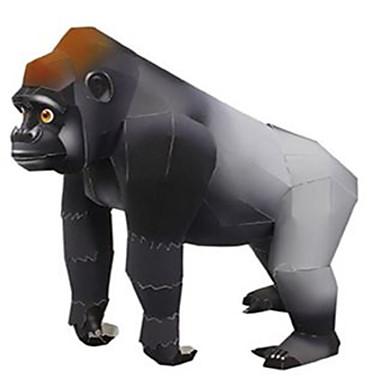 قطع تركيب3D نموذج الورق قرد غوريلا الحيوانات اصنع بنفسك ورق صلب للأطفال للجنسين هدية
