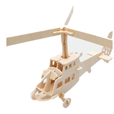 قطع تركيب3D تركيب النماذج الخشبية طيارة بناء مشهور هليكوبتر معمارية 3D اصنع بنفسك خشب كلاسيكي 6 سنوات فما فوق