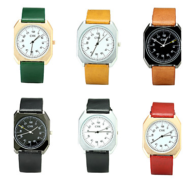 للرجال ساعة المعصم ساعات فاشن ساعة كاجوال صيني كوارتز / PU فرقة ترف قديم كاجوال أنيقة أسود بني