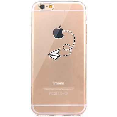 Voor iPhone X iPhone 8 Hoesje cover Transparant Patroon Achterkantje hoesje Spelen met Apple-logo Zacht TPU voor Apple iPhone X iPhone 7s