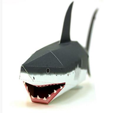 3D - Puzzle Papiermodel Papiermodelle Modellbausätze Quadratisch Fische Shark 3D Heimwerken Klassisch Unisex Geschenk