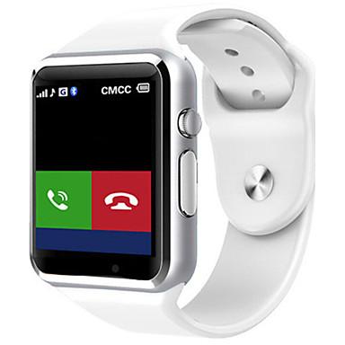 Herrn Smart Watch digital Caucho Band Schwarz Weiß Blau Rot