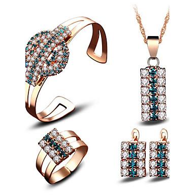Pentru femei Seturi de bijuterii de mireasă Cristal Zirconiu Cubic Modă Euramerican Nuntă Petrecere Evenimente/Petrecere Zilnice Placat