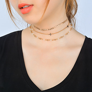 Pentru femei Cristal Altele Set bijuterii - Personalizat / Euramerican / Multi-moduri Wear Auriu / Argintiu Coliere Choker Pentru Zilnice