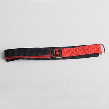 Trend sportstijl nylon kinderen rode zwarte horlogeband