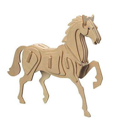 قطع تركيب3D تركيب معدني الخشب نموذج مجموعات البناء ألعاب حصان اصنع بنفسك الخشب الطبيعي غير محدد قطع