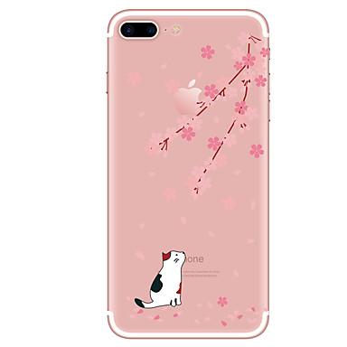 Hülle Für Apple iPhone X iPhone 8 iPhone 8 Plus Transparent Muster Rückseite Katze Weich TPU für iPhone X iPhone 8 Plus iPhone 8 iPhone 7