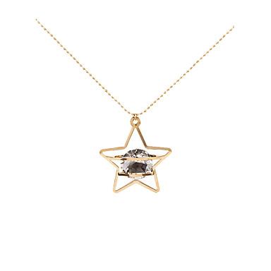 Dames Ster Gepersonaliseerde Meetkundig Uniek ontwerp Kwastjes Modieus Hypoallergeen Movie Jewelry Opvallende sieraden Hangertjes ketting