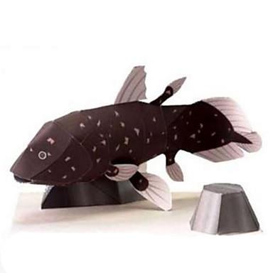 3D-puzzels Bouwplaat Papierkunst Modelbouwsets Vissen Dieren Simulatie DHZ Klassiek Kinderen Tiener Unisex Geschenk