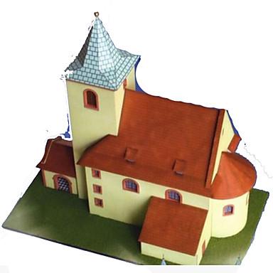 قطع تركيب3D أشغال الورق مربع بناء مشهور بيت معمارية 3D محاكاة اصنع بنفسك ورق صلب للجنسين هدية