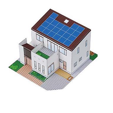 ألعاب الطاقة الشمسية قطع تركيب3D نموذج الورق ألعاب بناء مشهور بيت معمارية يعمل بالطاقة الشمسية غير محدد قطع