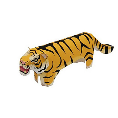 3D-puzzels Legpuzzel Papierkunst Modelbouwsets Tiger Dier 3D Dieren Inrichting artikelen DHZ Klassiek Cartoon Unisex Geschenk