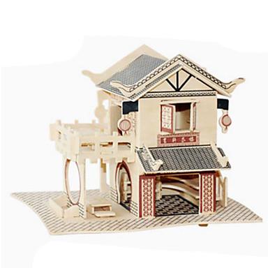 3D-puzzels Legpuzzel Hout Model Speeltjes Beroemd gebouw Architectuur 3D Hout Natuurlijk Hout Niet gespecificeerd Stuks