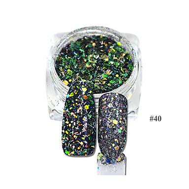 1 Unghiul de bijuterii Glitter & Poudre Consumabile DIY 3-D Fete & Tinere Femei  Glitters Γεωμετρικά Clasic Modă O noua sosire Încântător