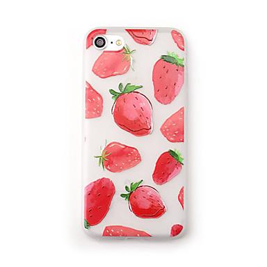 hoesje Voor Apple iPhone 7 Plus iPhone 7 Mat Doorzichtig Patroon Achterkant Fruit Zacht TPU voor iPhone 7 Plus iPhone 7 iPhone 6s Plus