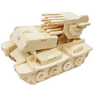 Puzzle 3D Puzzle Modelul lemnului Jucarii Rezervor Leu 3D Reparații Lemn Lemn natural Unisex Bucăți