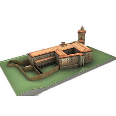 قطع تركيب3D نموذج الورق مجموعات البناء أشغال الورق ألعاب قصر بناء مشهور معمارية 3D اصنع بنفسك للجنسين قطع