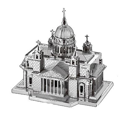 Puzzle 3D Puzzle Puzzle Metal Μοντέλα και κιτ δόμησης Turn Arhitectură 3D Reparații Teak Crom Fier MetalPistol Clasic Unisex Cadou