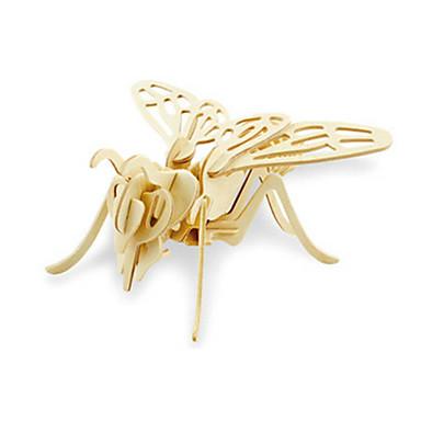 قطع تركيب3D تركيب النماذج الخشبية ديناصور طيارة حيوان 3D اصنع بنفسك خشبي خشب كلاسيكي 6 سنوات فما فوق