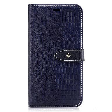 hoesje Voor Samsung Galaxy S8 Plus S8 Portemonnee Kaarthouder met standaard Flip Reliëfopdruk Volledige behuizing Effen Kleur Hard PU-leer