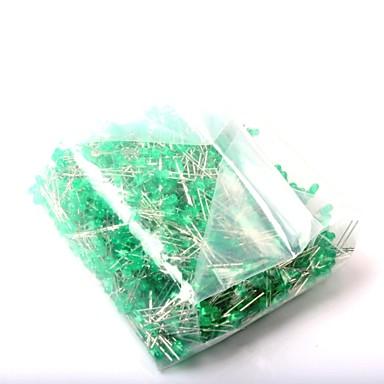 LED Light-Emitting Diode 3MM Green Light (1000Pcs)