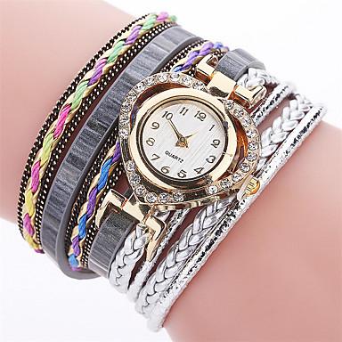 Xu™ Pentru femei Simulat Diamant Ceas Unic Creative ceas Ceas Brățară Ceas Casual Chineză Quartz cald Vânzare PU Bandă Charm Casual
